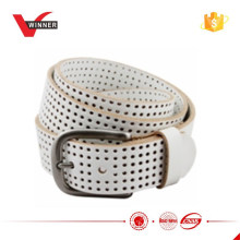 1.5'' Perforated 100% leather golf jean belt for Unisex