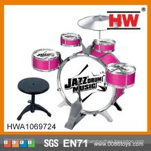 Plástico de alta qualidade crianças brinquedo musical drum kit