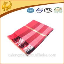 custom red plaid 100% merino wool shawl
