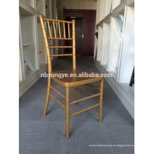 2015 venta caliente del estilo romántico que apila la silla de Chiavari del metal para el alquiler