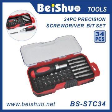 34 PCS S2 Alu-Stahl-Präzisions-Schraubendreher-Bit-Set