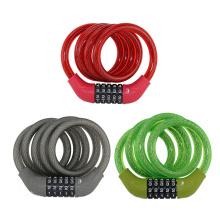 Código de 5-dials de bloqueio de cabo de combinação de bicicleta Yf0925