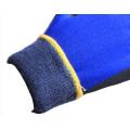 Invierno guantes de trabajo con 3/4 recubierto con nitrilo negro de Sandy en la palma (N1612)