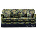 Tecido de camurça de poliéster de couro impresso para capas de sofá