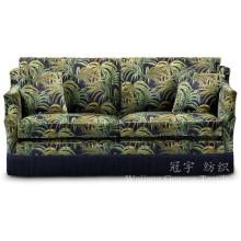 Bedrucktes Leder Polyester Wildleder Stoff für Sofa Covers