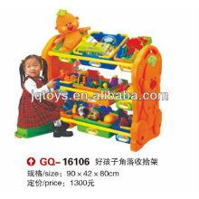 JQ plastic corner shelf for children collective shelf