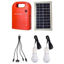 Kit solar DC pequeno portátil de 10 W com rádio