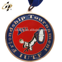 Médailles de sport en taekwondo ITUF en bronze d'alliage de zinc avec design propre