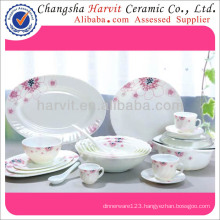 Heat Resistant Opal Glassware Turkish Round Dinnerware Sets/High Quality 58PC Dinner Set