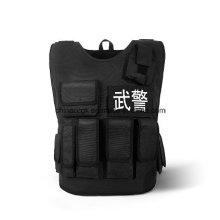 Bewaffnete Polizei Schützende taktische Kugelsichere Weste