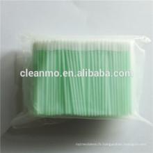 Écouvillon en mousse souple non stérile de Cleanroom de 3 po avec poignée en polypropylène