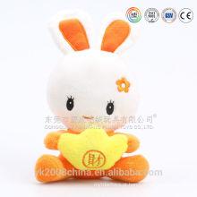 Engraçado de malha adorável China coelho pelúcia bonecos de pelúcia