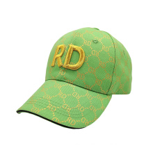 New Design Promotion Printing Custom 3D Logo Green Cap Hat Baseball Boys Hats and Caps for Men Women