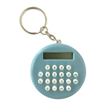 8 Digital Mini Circular Calculator with Key Chain