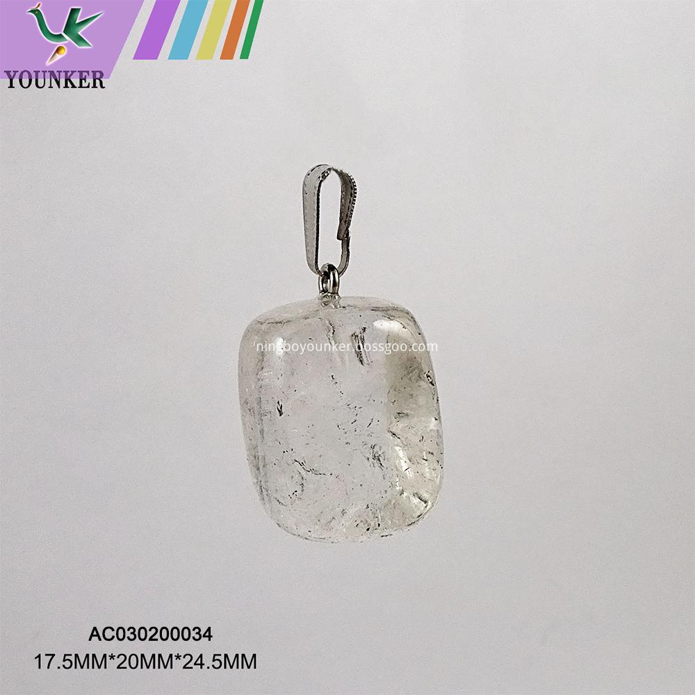 Transparent Crystal Stone Necklase Pendant