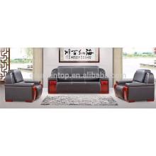 Conjunto de sofá de escritório preto de tamanho grande e executivo preto (KS10)