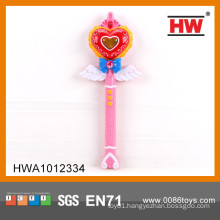 Funny plastic toy 32CM led flashing light stick with light and music magic fairy wand