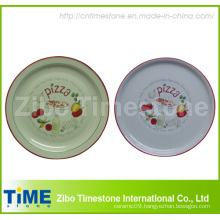 Porcelain Pizza Plate with Decal (TM213)