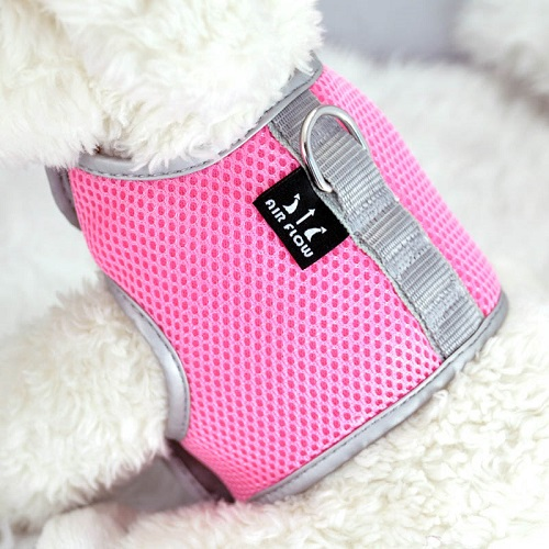 Pink Airflow Mesh Harness with Velcro back