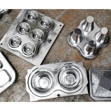 Moldes de compressão de aço inoxidável dos utensílios de mesa da melamina do chapeamento de cromo (MJ-022)