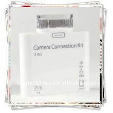 Lecteur de carte 2 en 1 pour kit de connexion caméra iPad Apple