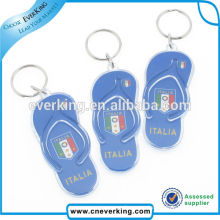 Presonalized Cute Mini Slipper Shape Plastic Keychain