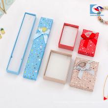 Cajas de regalo decorativas de la caja de regalo barata de la joyería de la cartulina de China