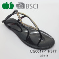 Hot Sale Trendy Fashion Cheap Ladies Fancy Jelly Sandals