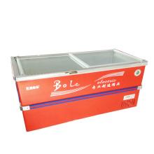 496L Раздвижные двери Глубокий морозильный шкаф с морозильной камерой для супермаркета