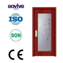 Nouveau design verre bois/porte en bois porte/porte vitrée
