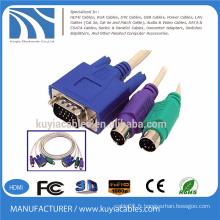 Vente rapide VGA SVGA à RCA S-Vidéo AV OUT Card HD 15 broches adaptateur câble pour TV PC