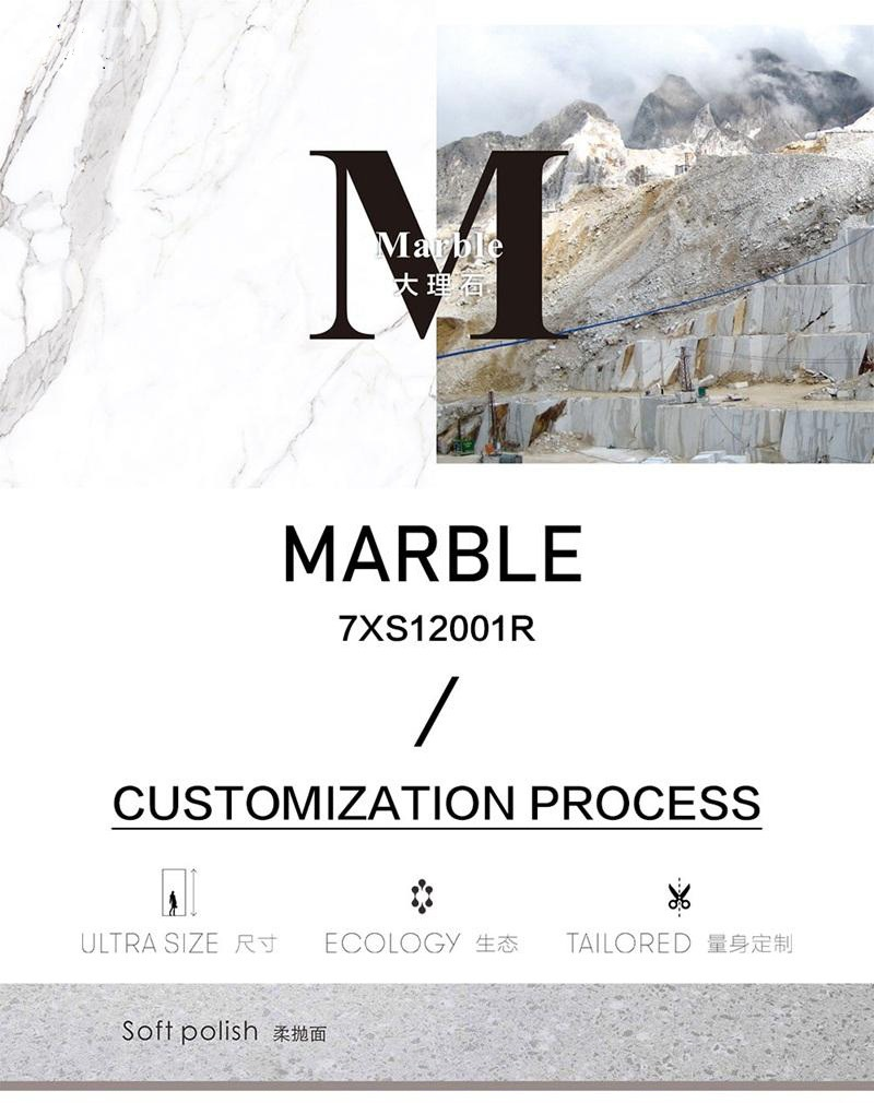 Polished marble tiles