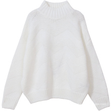 PK18CH006 lady turtle neck oversize cashmere sweater