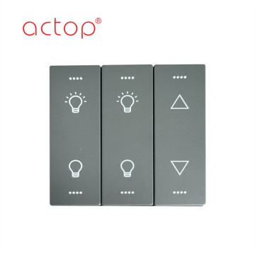 Wall switch and wall sockets for hotel room