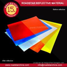 Selbstklebende sichern druckbare prismatischen PVC reflektierenden vinyl