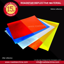 Self adhesive backing Printable prismatic PVC reflective vinyl