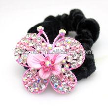Rosa, borboleta, cabelo, Ornamento, pretas, elástico, faixa