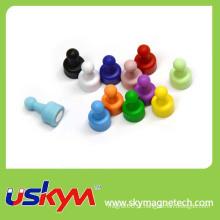 Muitas cores magnético Push Pin Office Thumbtack Ímãs