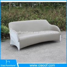 Sofá de cuero de 3 plazas de cuero PU impermeable al aire libre