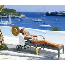 PE Rattan Wicker Outdoor Furniture Beach Daybed (L650)