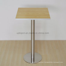 Commercial Wooden Top Restaurant Bar Table with High Metal Leg (SP-BT716)