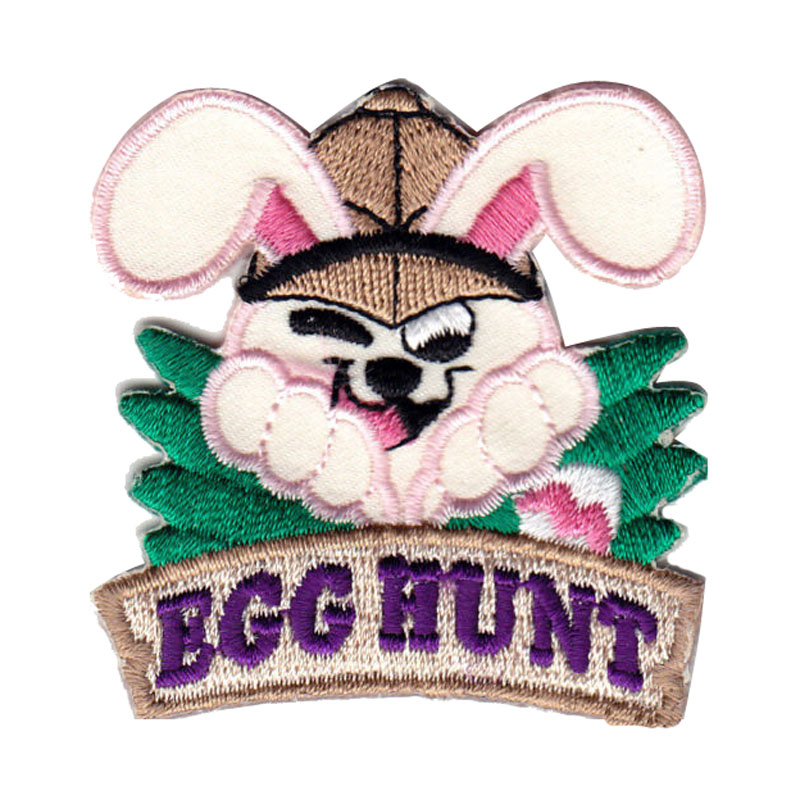 Egg Hunt Iron On Embroidered Patch