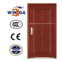 Casa de venda a quente fora da porta blindada de madeira de aço MDF (W-A7)