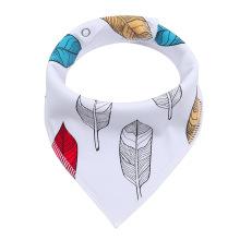 Deekids Organic Cotton Newborn Adjustbale Baby Bib For Boys And Girls Triangle Teething Bib Handkerchief Bib