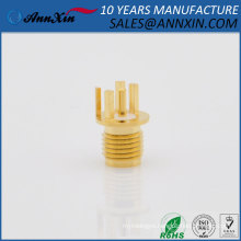 sell like hot cakes SMA female Round 1.0mm solder PCB clip edge mount circle round