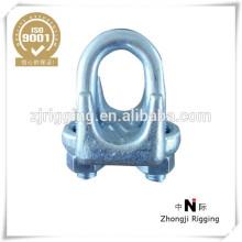 Pince à câble métallique malléable de haute qualité type A avec galvanisé