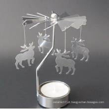 Porta-velas giratório de alumínio