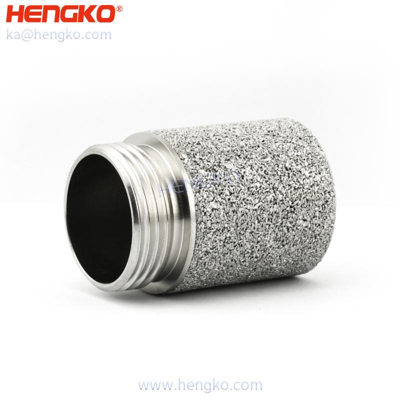 Sintered porosity SS 316L moisture waterproof ultrasonic sensor housing protection