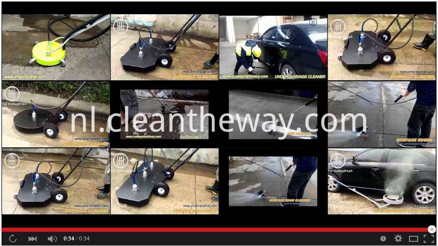 sppiner video/ 20 inch Smooth Floor Cleaner with Wheels