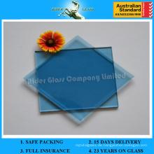 3-12mm farbige reflektierende Klasse und Clear Float Blue Glass mit AS / NZS2208: 1996